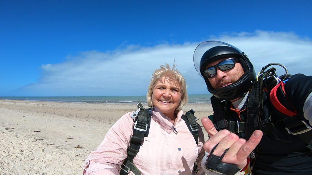 Jackie has landed on a beach - coastal location