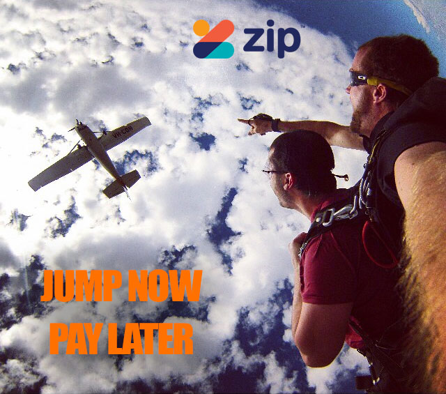 Skydive with Zip Pay