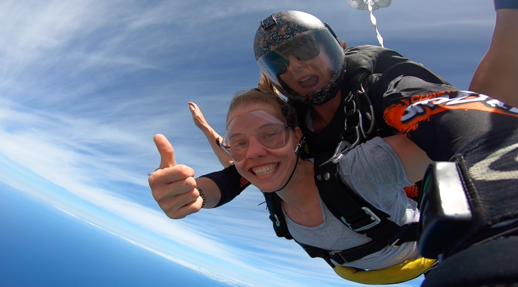 Hayden & Courtney Skydiving Beach Marriage Proposal