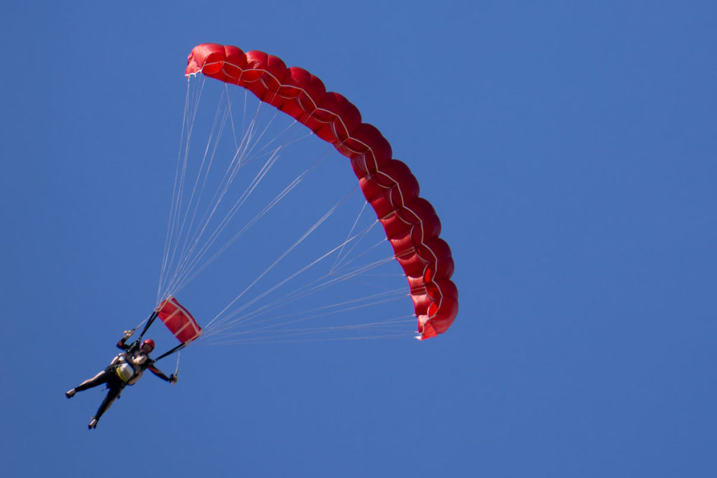 Semaphore Skydiving Marriage Proposal