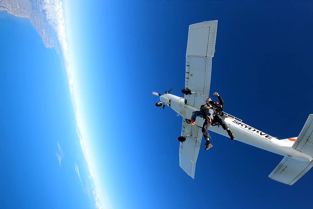 Tandem Skydive at 15000 Feet