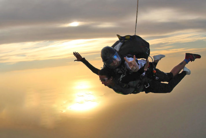 Semaphore Sunset Skydive